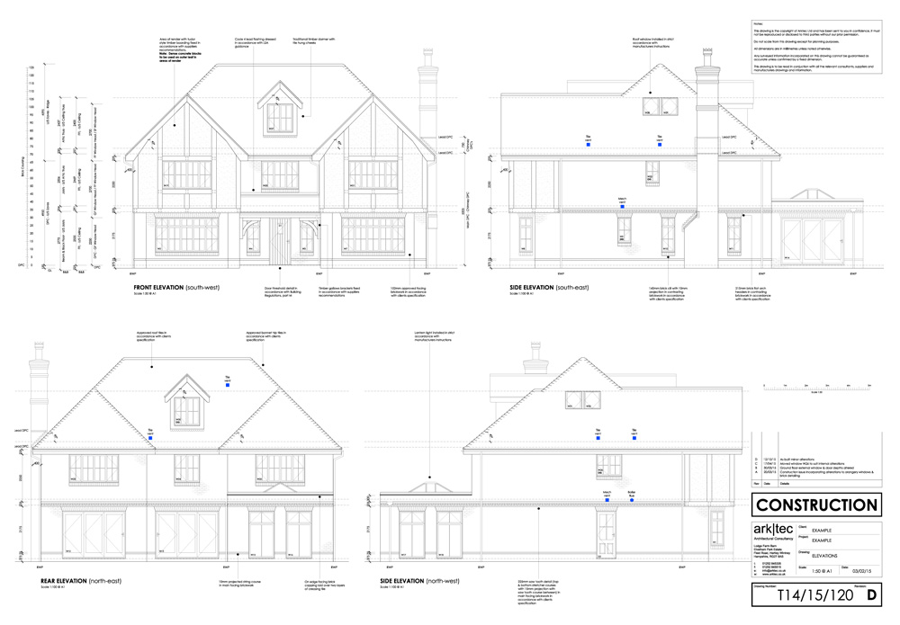 arktec | Technical Working Drawings